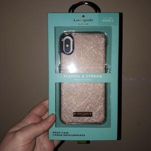 Brand new in box kate spade iPhone X phone case